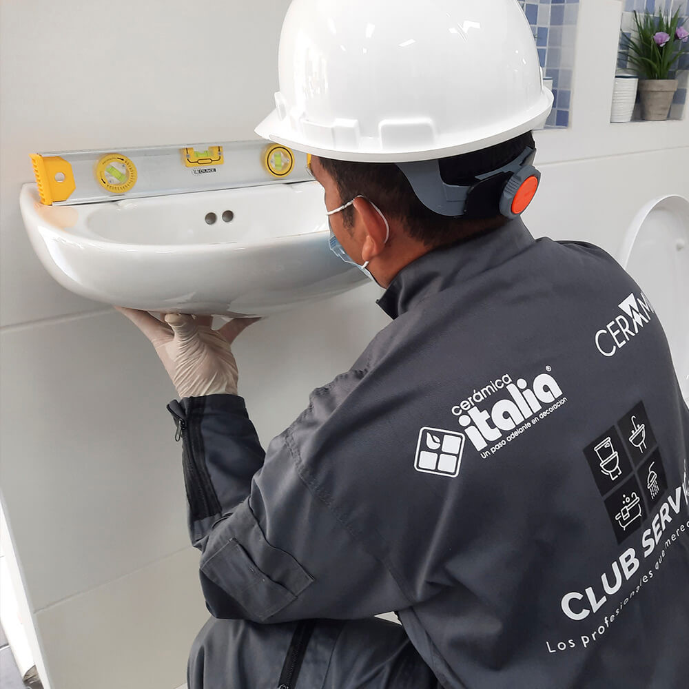 Instalacion de lavamos de pedestal